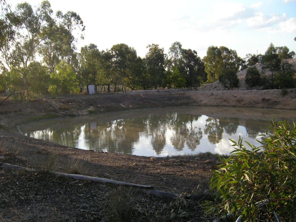 Another view of the house dam