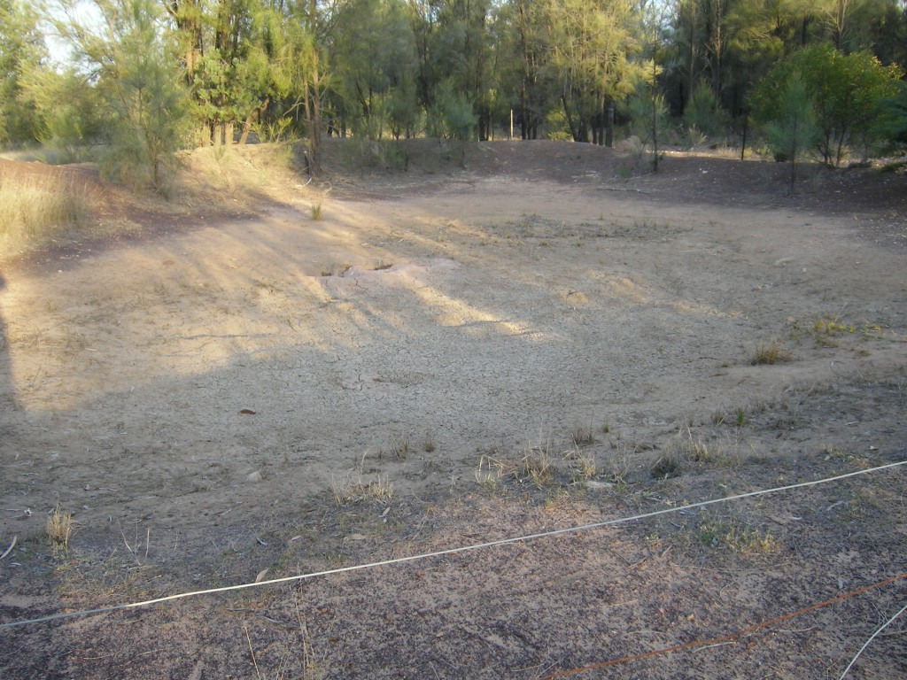 The back dam has dried up